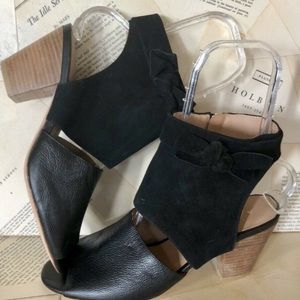 Anthropologie Black Leather & Suede Shoes